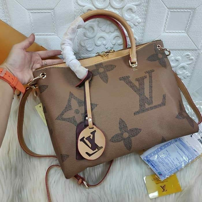 tas lv louis vuitton pallas giant monogram tas kantor kuliah handbag vintage import premium #joinjuli