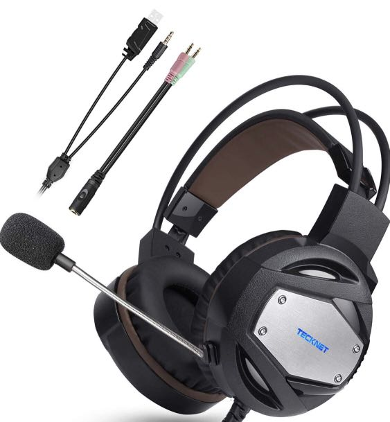 TeckNet Gaming Headset - 3 5mm Stereo , Noise Cancelling Mic