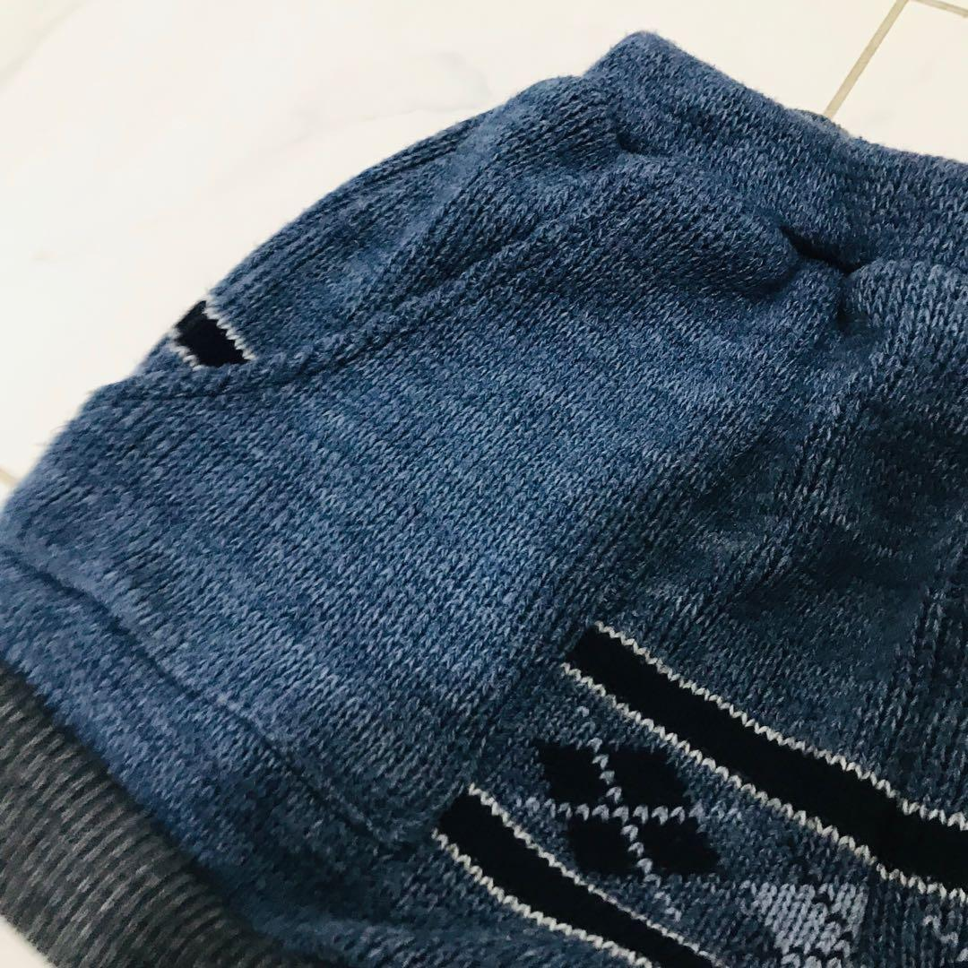 Urban renewal knitted wool rubbed off inter shorts with pockets fits like an 8