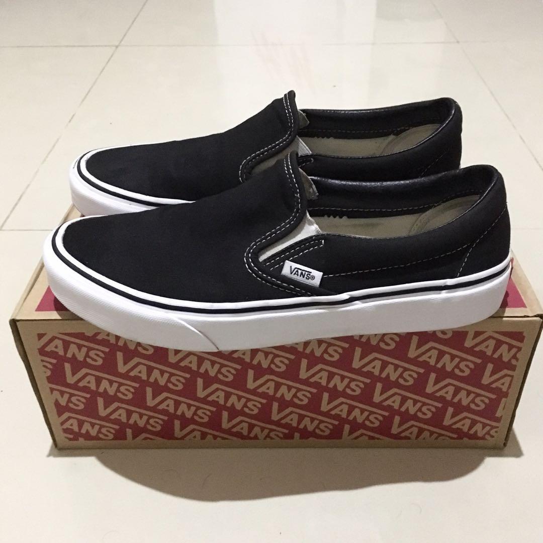 Vans Slip-On/Slipon Classic Black/White BW (Original 100%)