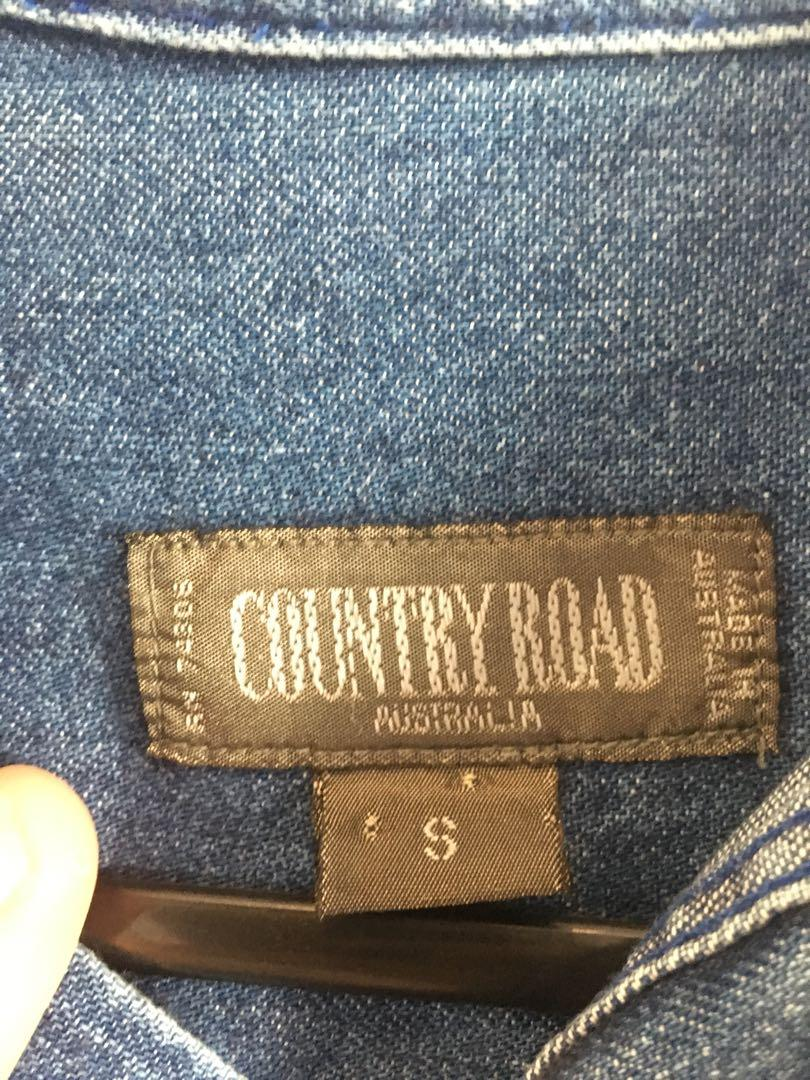 Vintage Country Road work wear medium denim button up