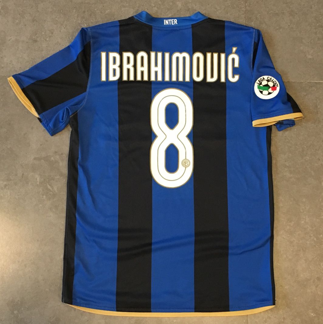 outlet store fe9fd 9ddc1 Zlatan Ibrahimovic No: 8 Inter Milan F.C Home Nike Authentic Football  Jersey (2009 Seria A)
