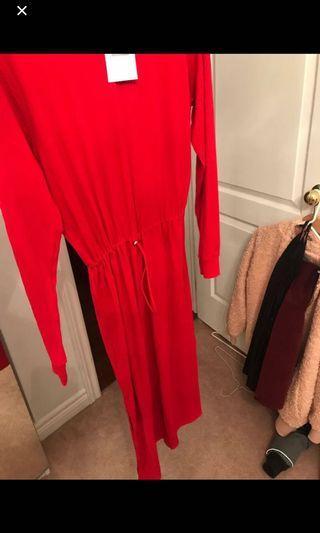 Zara ribbed BNWT red dress