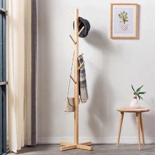 New Instock | Wood Coat Rack Hat Clothes Stand Wardrobe Ikea