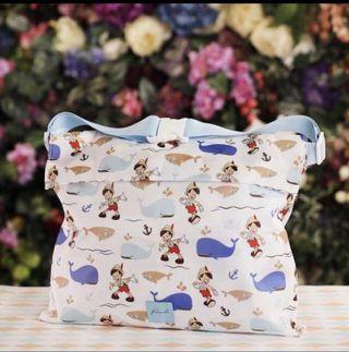 7 11 小木偶 Disney 迪士尼 童夢隨行 旅行袋變行李帶 1個