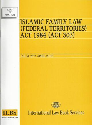 Law Book (Islamic Family Law Federal Territories)