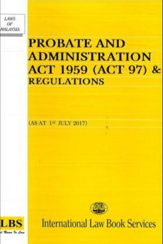 Law Book (Probate & Administration Act 1959)