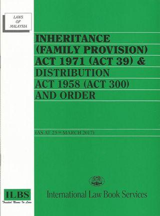 Law Book (Inheritance Family Provision Act 1971 & Distribution Act 1958)