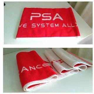 紅白雙色°長板運動毛巾 (100*22cm)
