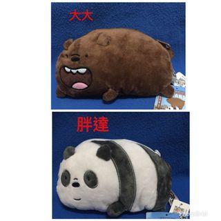 熊熊遇見你趴姿零錢包6英吋WE BEARS造型包袋