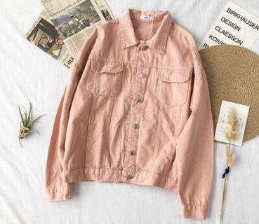 Denim Jacket Pink