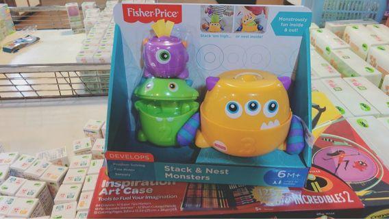 🚚 🔵特賣會購入🔵費雪 疊疊樂小怪獸玩具