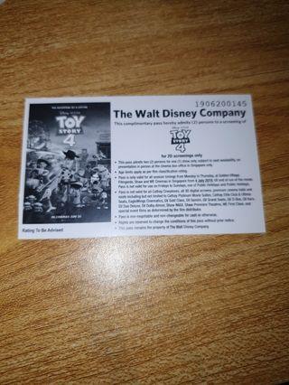 Toy Story 4 Movie Pass