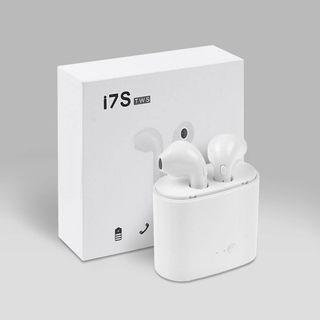 i7s TWS Bluetooth Wireless Airpods White