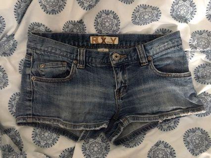 Short shorts denim roxy brand