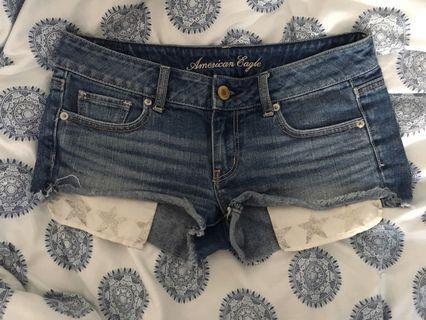 Denim shorts American eagle size 2