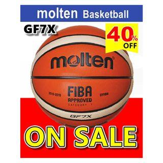 🚚 【PP SPORTS】Molten GF7X Basketball Composite Leather FIBA Approved Indoor Outdoor