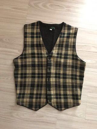 Vintage pattern馬甲冷衫背心