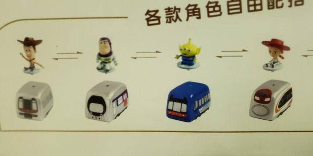 地下鉄路迪士尼搖控車一套四件