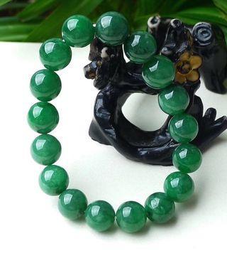 翡翠玉满绿手串
