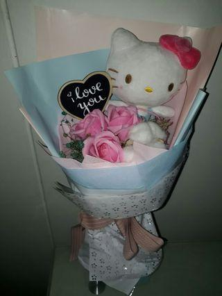 Instock Hello Kitty Flower Bouquet roses *Brand new*chat to buy if int