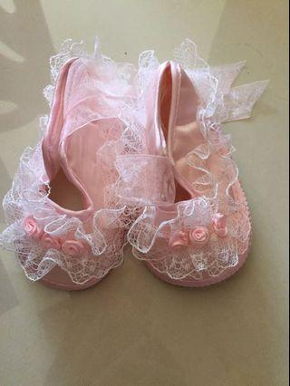 寶寶蕾絲學步鞋2號 內長約11.5公分