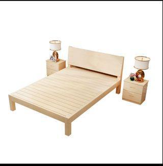雙人木床架 包送貨