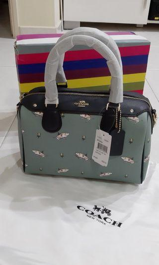 Coach F29557 Shark Pattern Boston Bag NEW