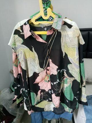 Flower Long Top Shirt