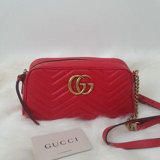 ON HAND: Authentic Gucci GG Marmont Small Matelassé Shoulder Crossbody Bag
