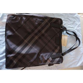 Burberry Nylon Check Buckleigh Packable Tote
