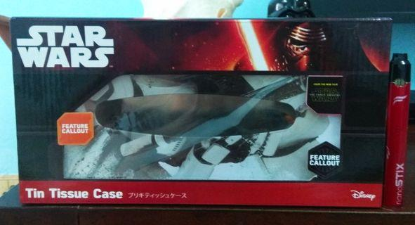 """Tin Tissue Case Star Wars From """"The Force Awakens"""" (Set C) limited item"""
