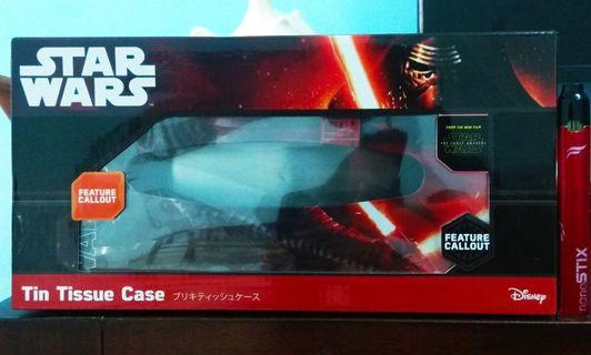 """Tin Tissue Case Star Wars From """"The Force Awakens"""" (Set B) limited item"""