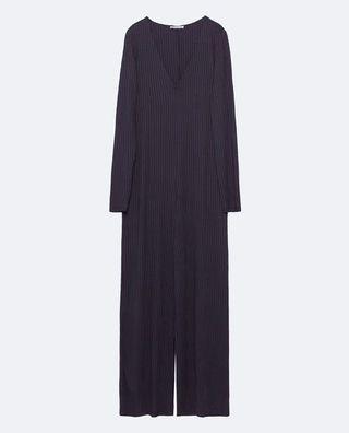 Zara ribbed black jumpsuit