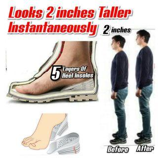 🚚 5 Layers Taller Insole Silicone Gel Inserts Lift Shoe Pads Height Increase for $14.90. (👍Price is for 1 pair)