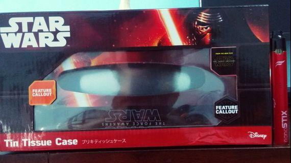 """Tin Tissue Case Star Wars From """"The Force Awakens"""" (Set A) limited item"""