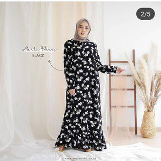 Gamis Merla Black by mayoutfitofficial