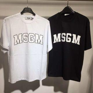 MSGM Tee ! Oversize 版!Size XS (49cmx66cm) and S (51cmx67cm) !