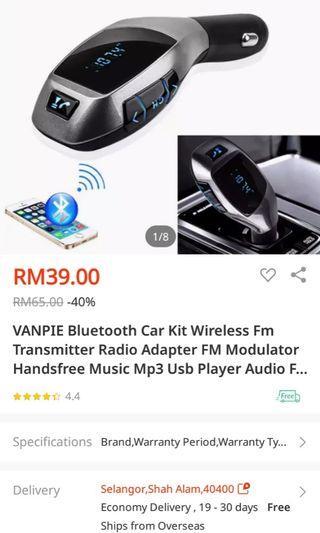 Bluetooth wireless car kit