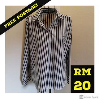 FREE POSTAGE: Work attire Stripe Blouse