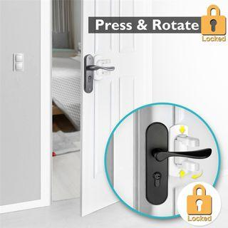 🚚 Baby Safety Door Lever Lock (4pcs): Pre-order 9 days delivery