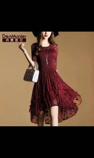🚚 Maroon wrinkle free dress