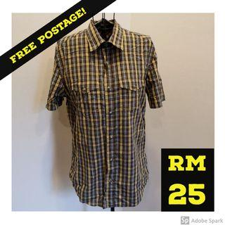 FREE POSTAGE: JASPAL Men Short Sleeve Checkered Shirt