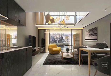 珠海橫琴豪華複式買一層送一層,帶裝修交樓,現樓發售