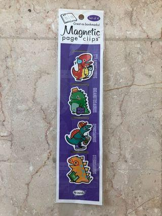 RE-MARK Magnetic Page Clips: Busy Dinosaurs