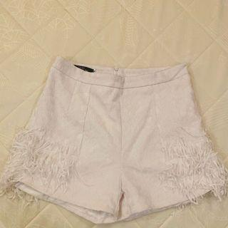 White fashion short