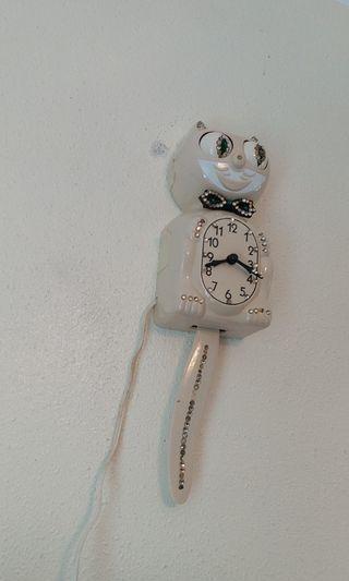 美國製造 電動貓鐘 約15吋長