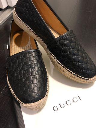GUCCI Espadrilles - 36.5 // Black Leather