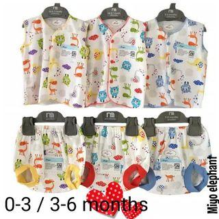 0-3 (3sets for $10.60) SALE baby day wear set