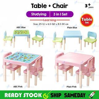3 in 1 Kids Learning Table And Chair Set Studying